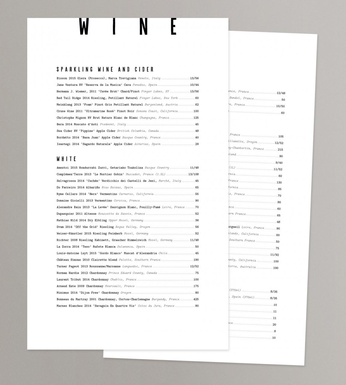 Giant概念餐厅品牌设计, 菜单设计