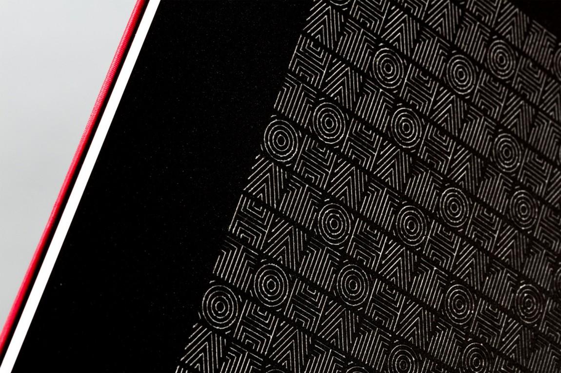 Brand identity and menu design for fine dining Asian restaurant Hato designed by Allink, Switzerland