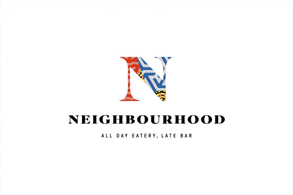 餐厅酒吧Neighbourhood品牌形象设计,logo设计