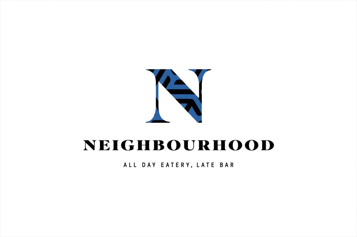 餐厅酒吧Neighbourhood品牌形象设计,彩色logo设计