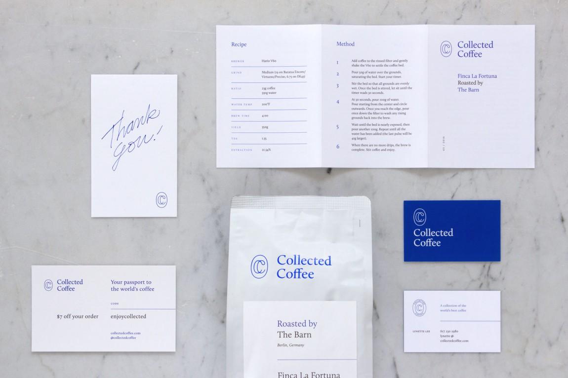 咖啡订购服务公司collect Coffee企业视觉形象设计思路解读,VI设计