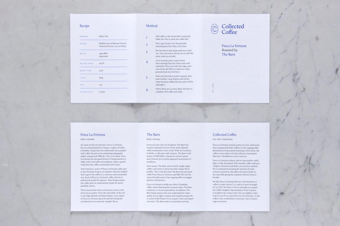 咖啡订购服务公司collect Coffee企业视觉形象设计思路解读,画册设计