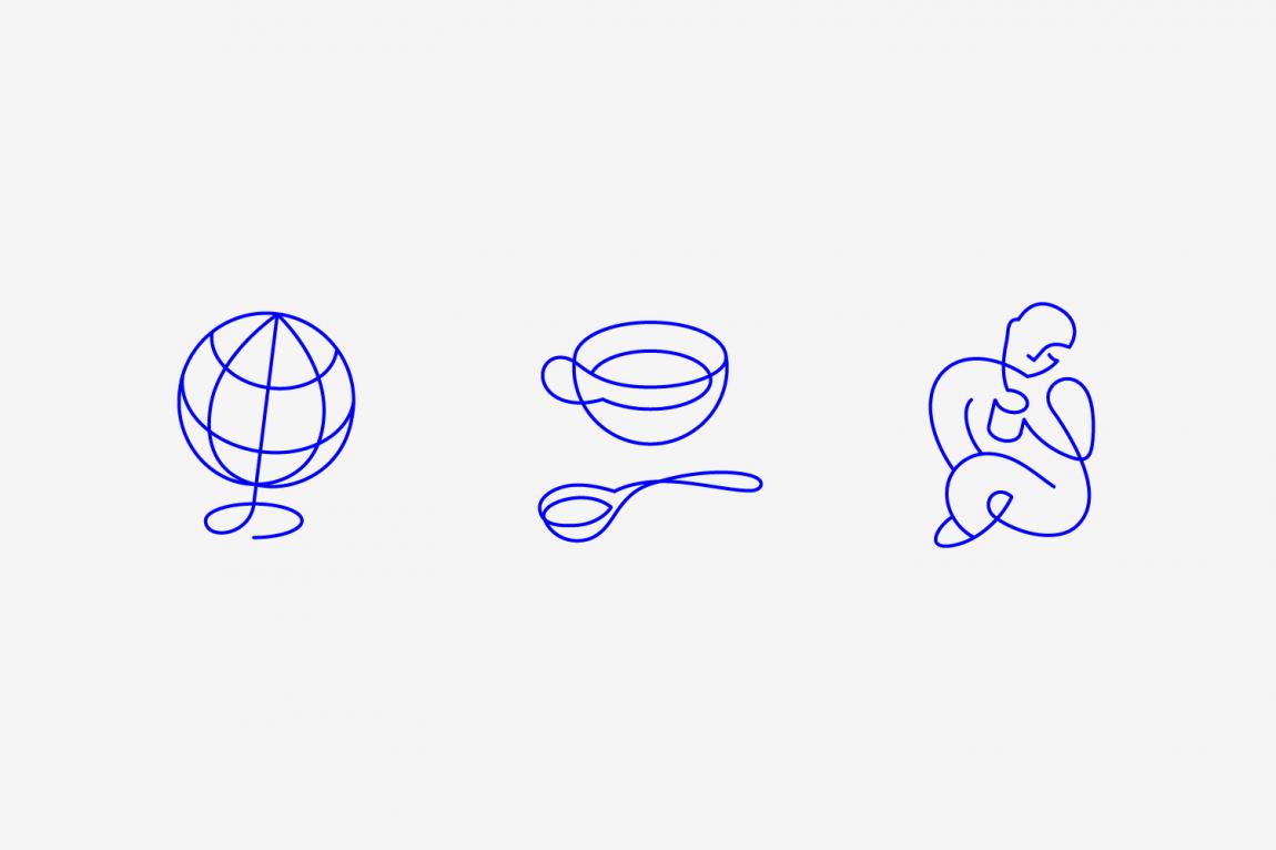 咖啡订购服务公司collect Coffee企业视觉形象设计思路解读,图标设计