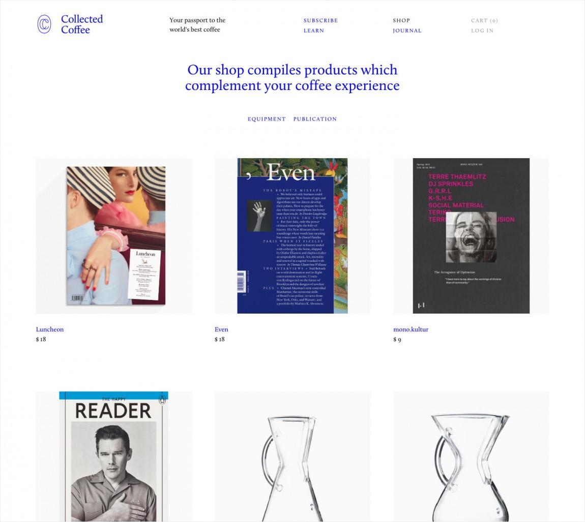 咖啡订购服务公司collect Coffee企业视觉形象设计思路解读,公司网站设计