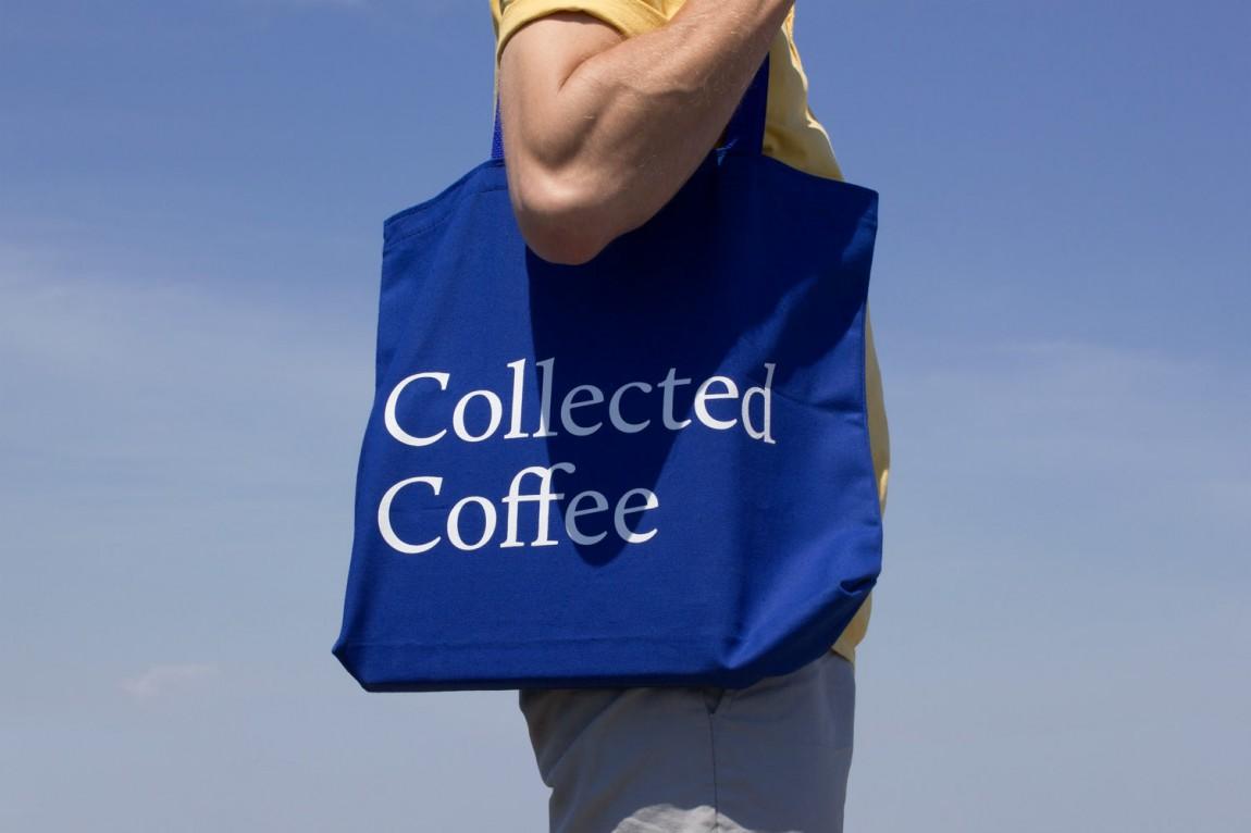 咖啡订购服务公司collect Coffee企业视觉形象设计思路解读,手提袋设计