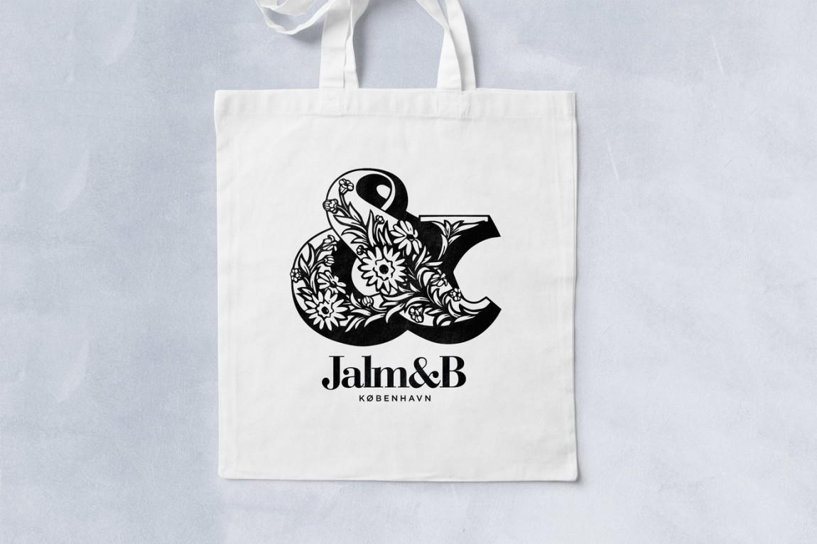 企业形象设计是什么?丹麦面包品牌 Jalm&B实战解析,手提袋设计