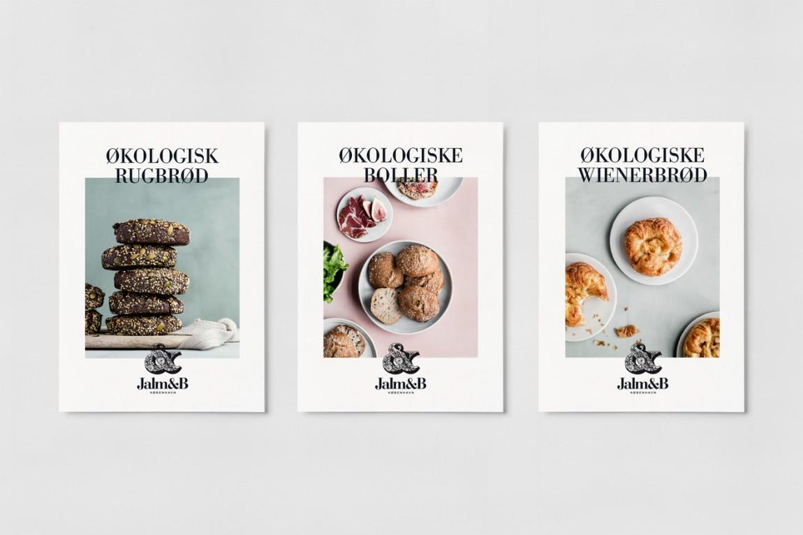 企业形象设计是什么?丹麦面包品牌 Jalm&B实战解析,外包装设计