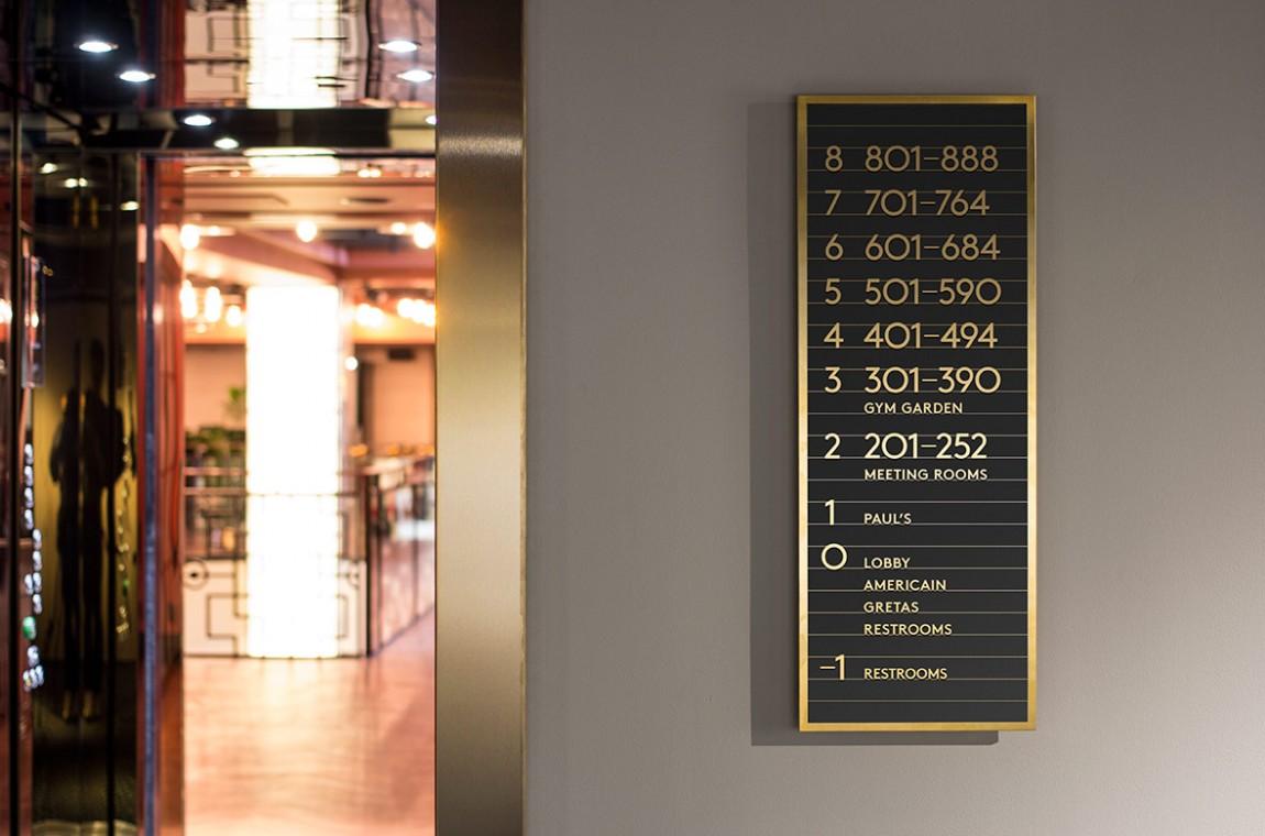 Haymarket酒店的餐厅平面设计,导视设计
