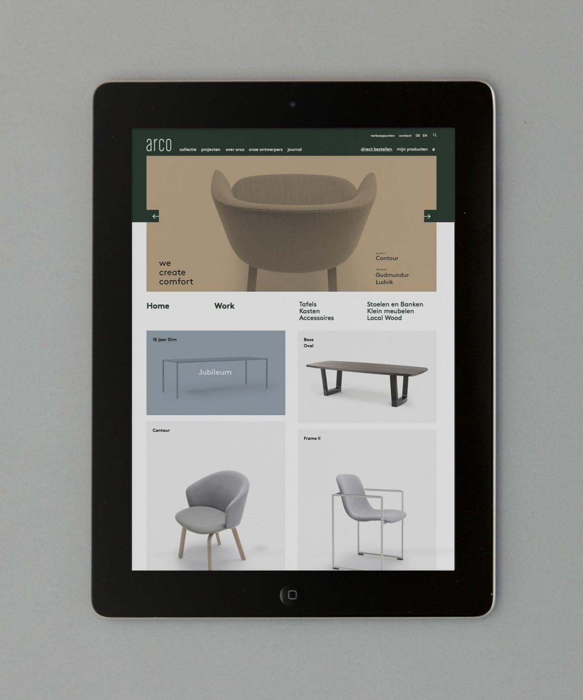 Arco家具设计制造公司VI企业形象设计,自适应网站设计