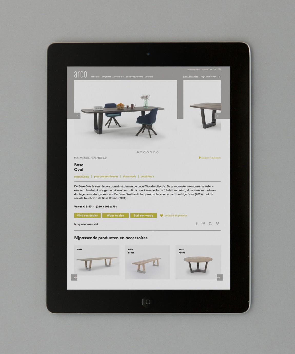 Arco家具设计制造公司VI企业形象设计,全适应网站设计