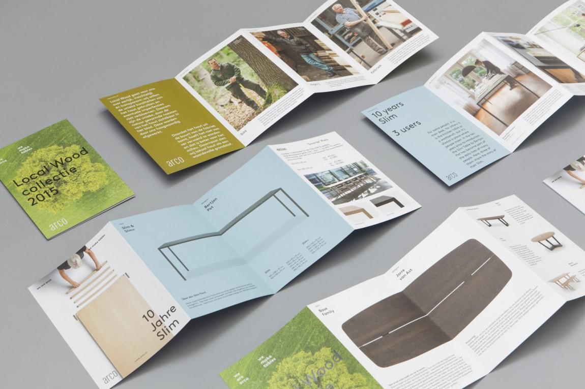 Arco家具设计制造公司VI企业形象设计,折页设计