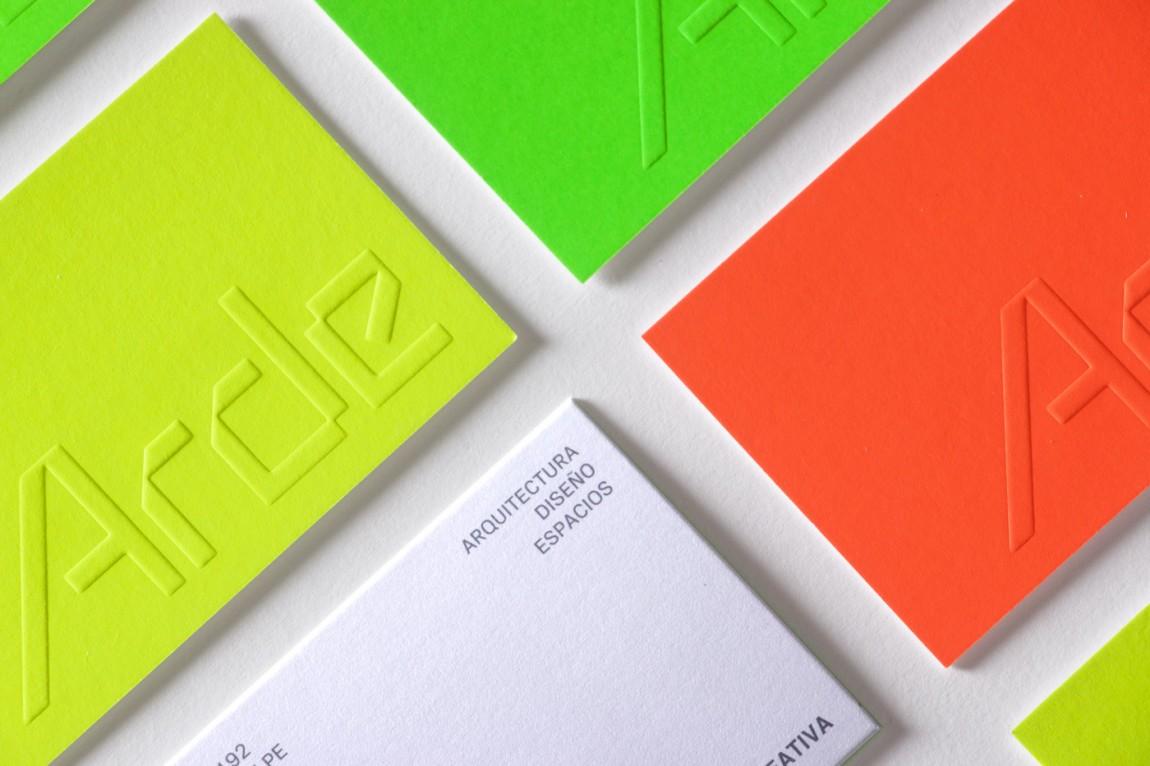 建筑设计公司Arde优秀企业形象设计,名片设计