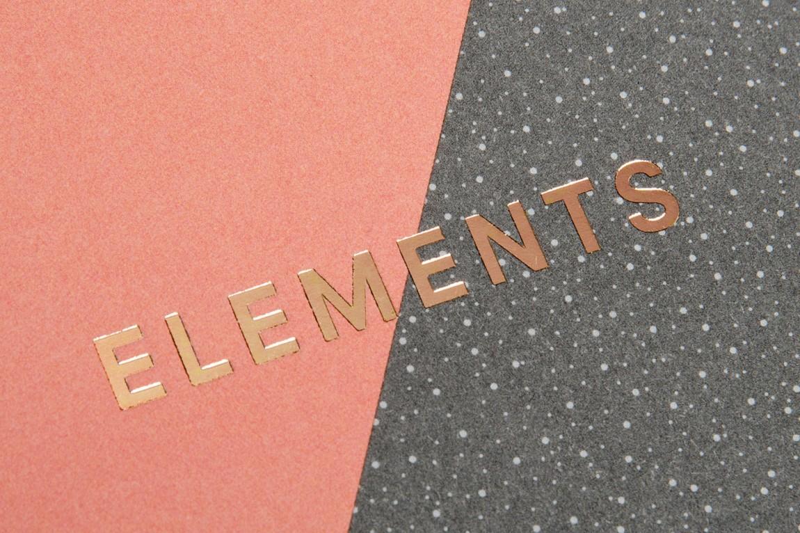 Elements产品整体形象设计,特殊工艺设计