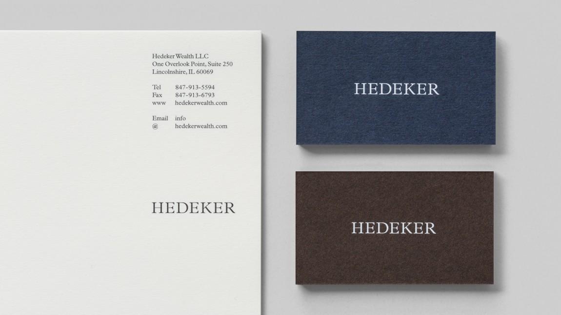 遗产和权威的盾牌:Hedeker的新品牌形象设计,名片设计