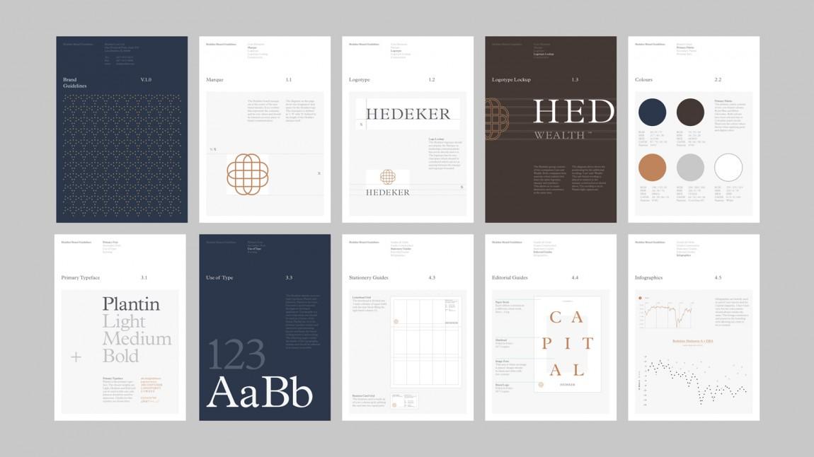 遗产和权威的盾牌:Hedeker的新品牌形象设计,视觉识别VI手册设计,