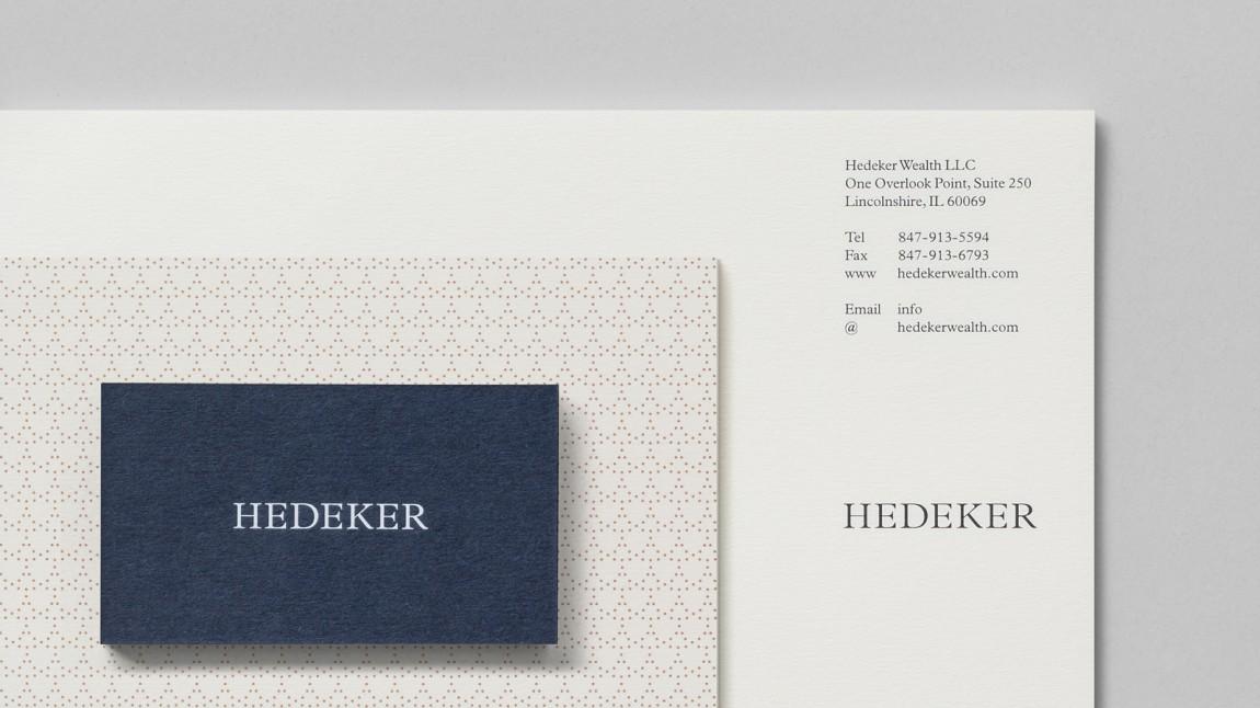 遗产和权威的盾牌:Hedeker的新品牌形象设计,办公应用设计