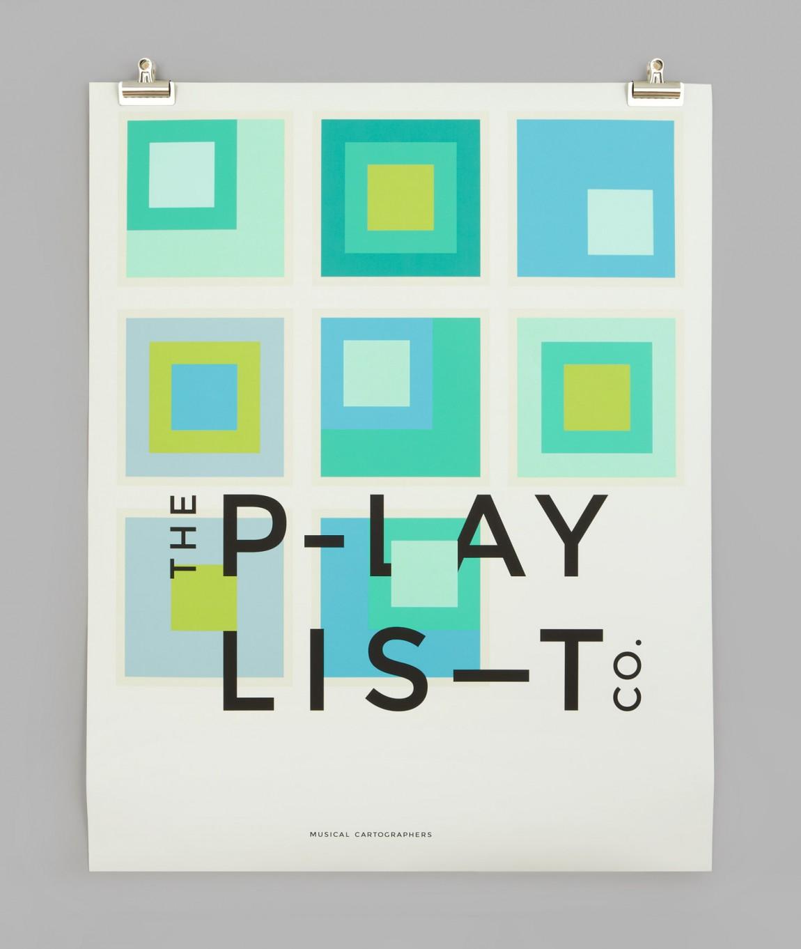 Playlist Co.音乐管理咨询服务公司品牌视觉形象设计,vi设计,招贴设计