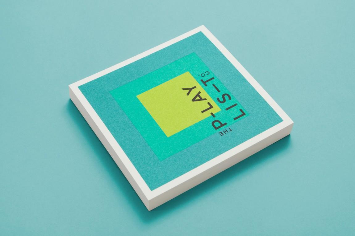 Playlist Co.音乐管理咨询服务公司品牌视觉形象设计,vi设计手册设计
