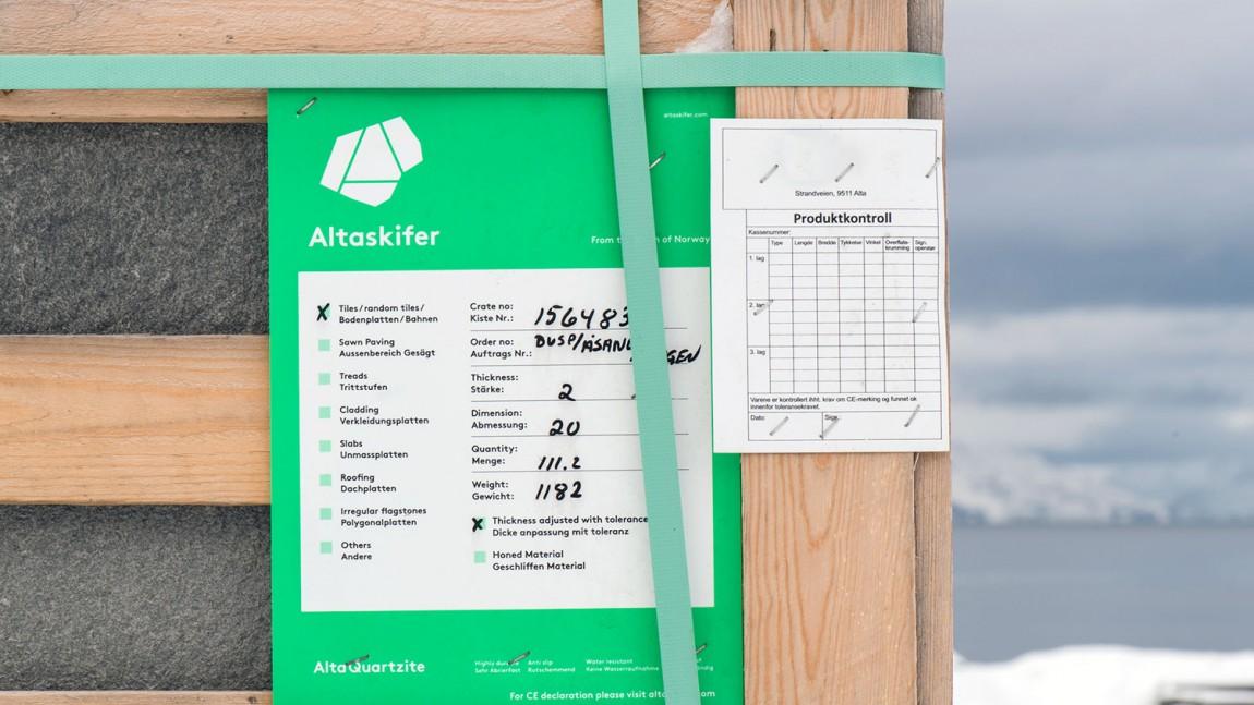 挪威石料公司Altaskifer的新品牌vi设计,产品包装设计