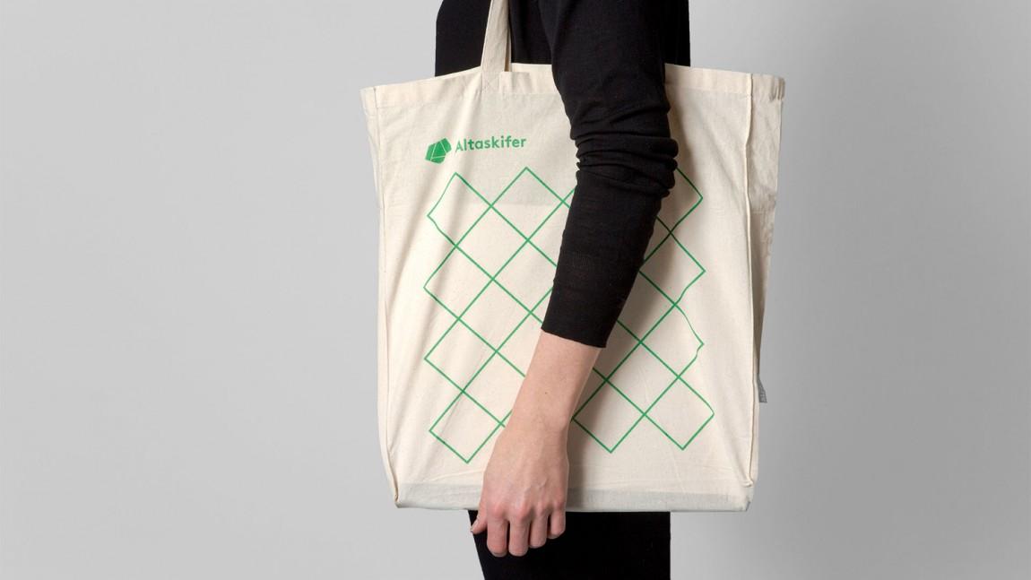 挪威石料公司Altaskifer的新品牌vi设计,手提袋设计