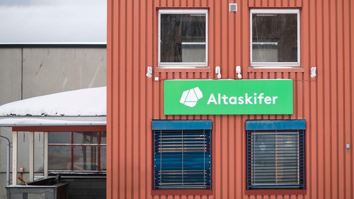 挪威石料公司Altaskifer的新品牌vi设计,环境导视设计