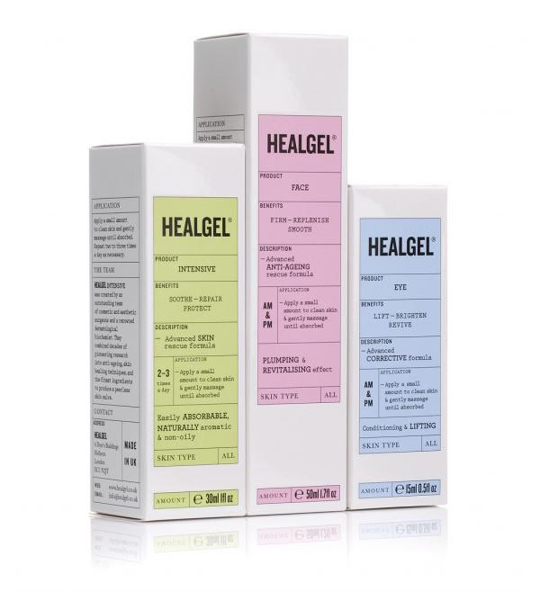 HealGel皮肤护理产品包装设计,医疗科技与护肤的统一