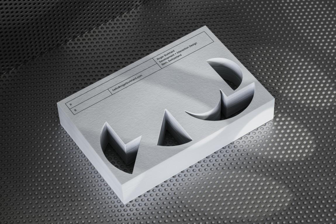 Roger创意开发互动工作室logo设计,名片设计