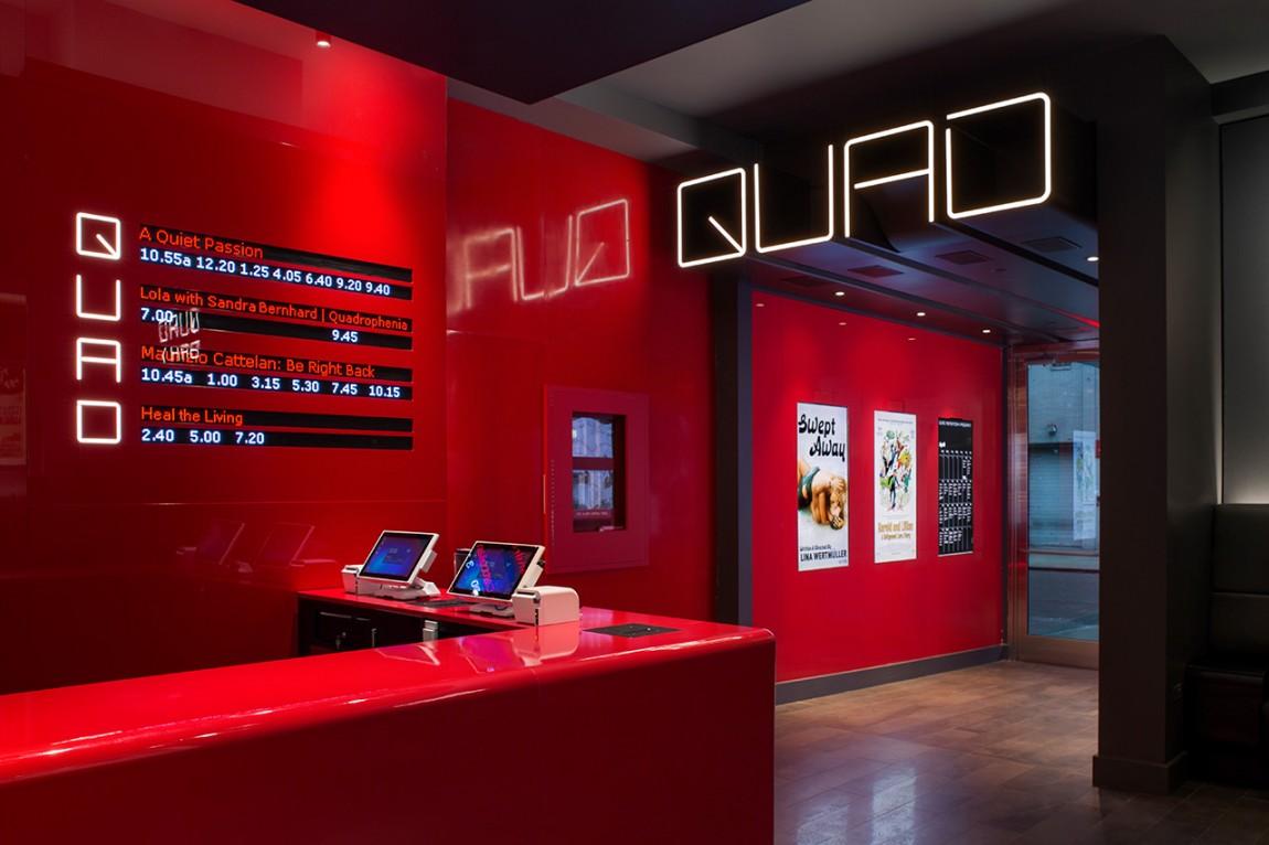 Quad Cinema影院品牌形象设计全案,空间设计