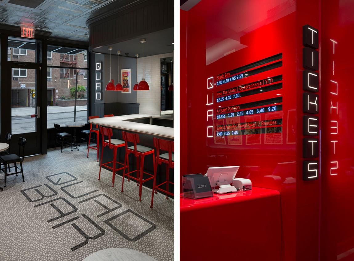 Quad Cinema影院品牌形象设计全案,休息区设计