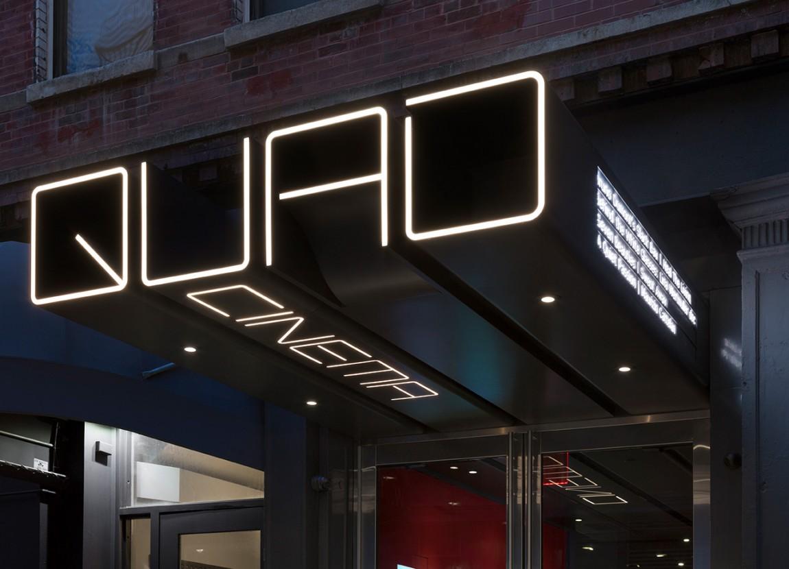 Quad Cinema影院品牌形象设计全案,导视系统设计
