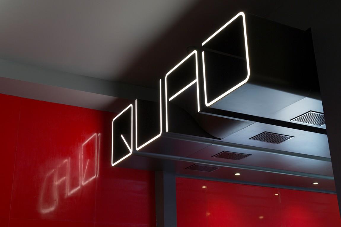Quad Cinema影院品牌形象设计全案,标识标牌设计