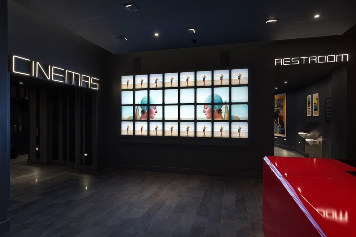 Quad Cinema影院品牌形象设计全案,环境系统设计