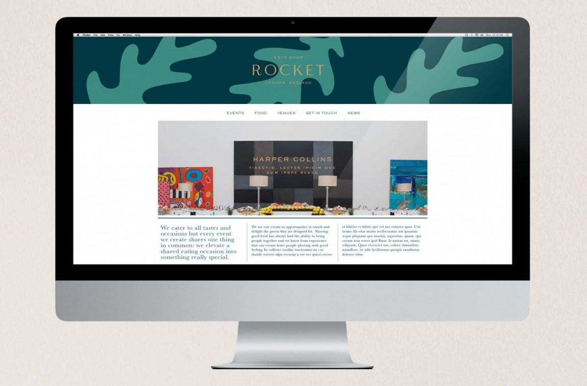 Rocket小型餐饮公司vis品牌设计全案,网站设计