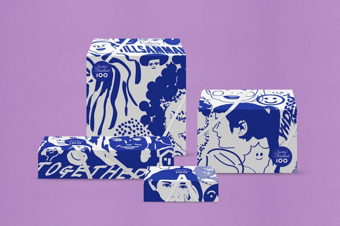 芬兰100周年活动城市品牌形象设计,包装设计
