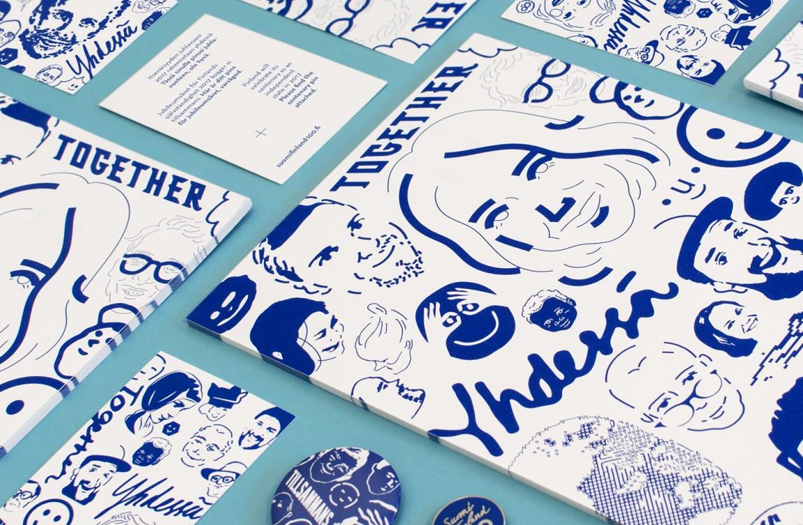 芬兰100周年活动城市品牌形象设计,画册设计