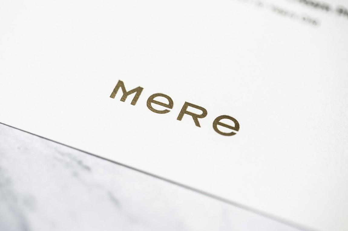 餐厅酒吧Mere餐饮品牌设计,字体logo设计