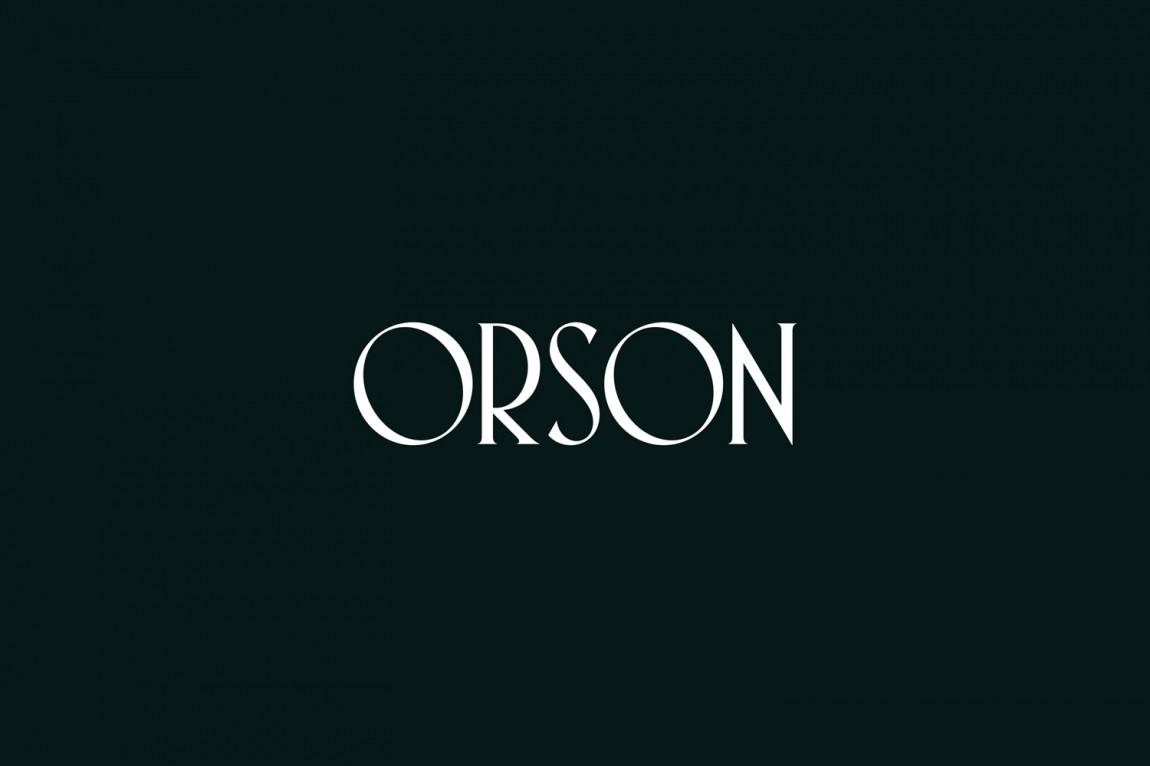 西餐厅品牌Orson餐饮vi设计,logo设计