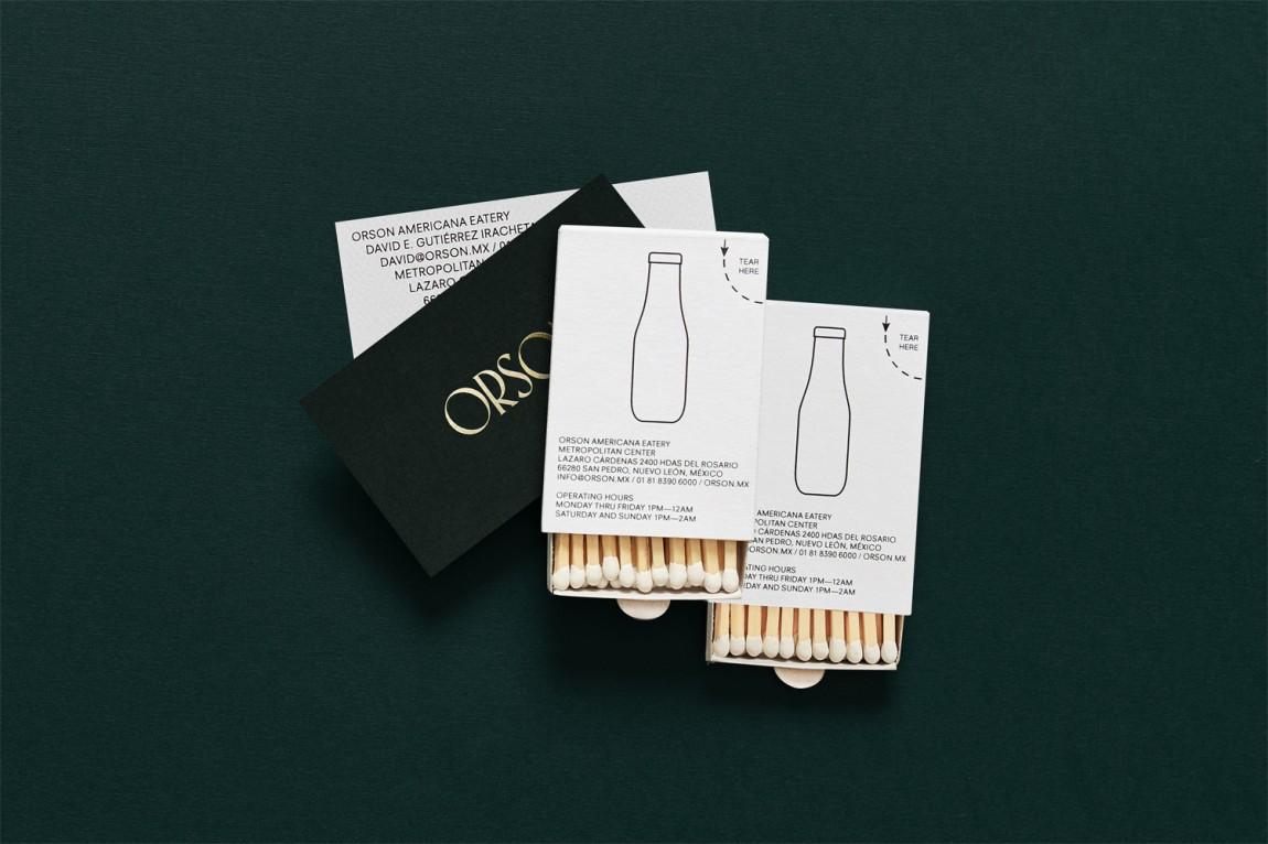 西餐厅品牌Orson餐饮vi设计,火柴设计