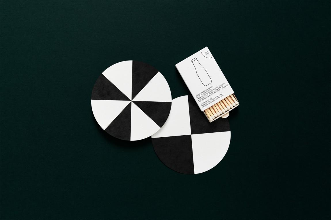 西餐厅品牌Orson餐饮vi设计,杯垫设计