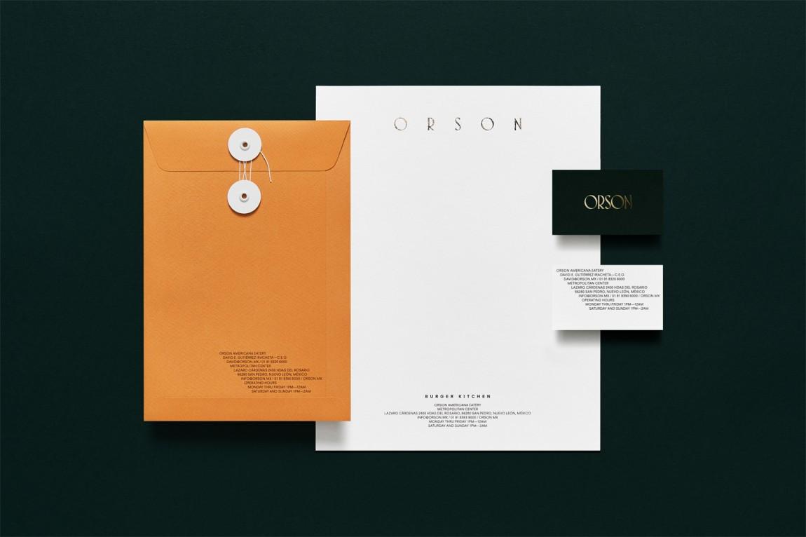 西餐厅品牌Orson餐饮vi设计, 办公应用设计
