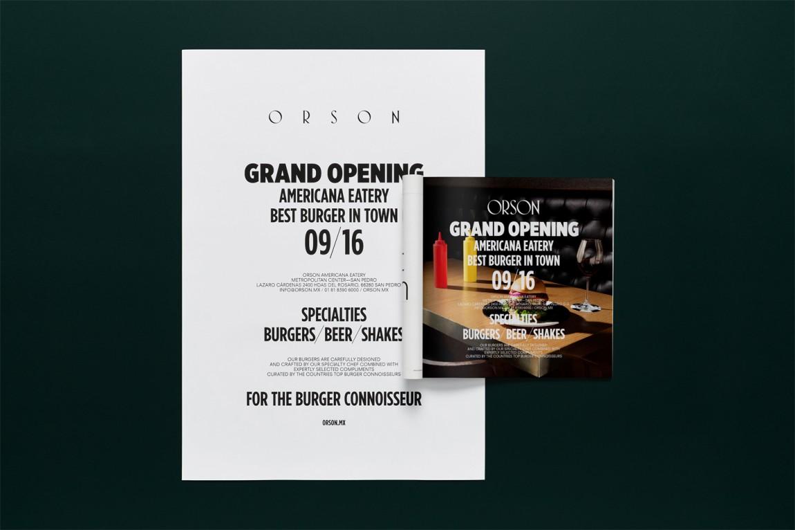 西餐厅品牌Orson餐饮vi设计,画册设计