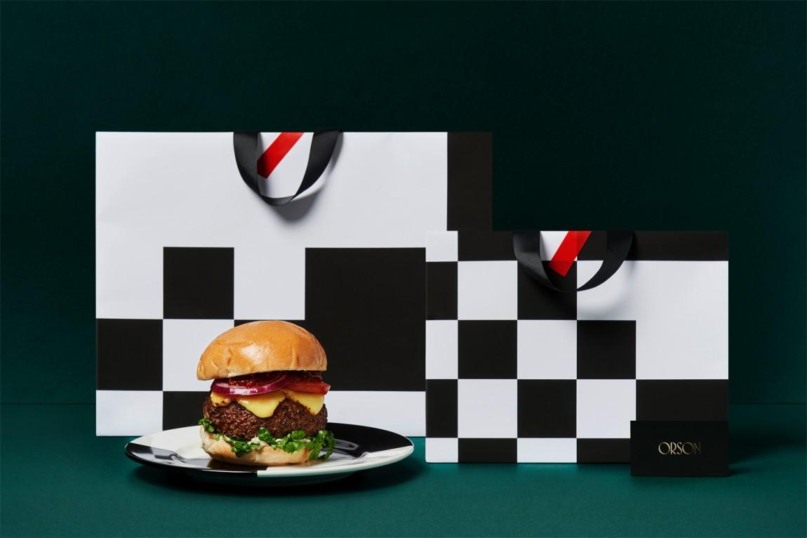 西餐厅品牌Orson餐饮vi设计,手提袋设计