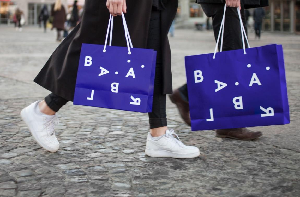 精品连锁店blabar品牌形象店视觉设计,手提袋设计