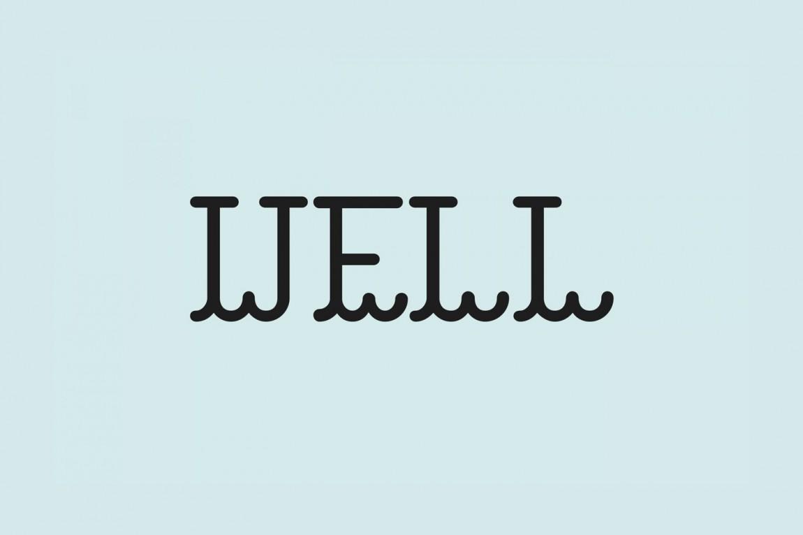 Well Coffee素食咖啡品牌形象塑造, 字母logo设计
