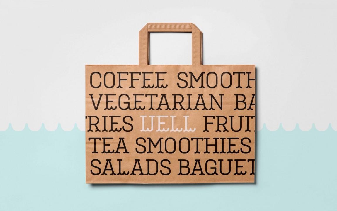 Well Coffee素食咖啡品牌形象塑造,手提袋设计