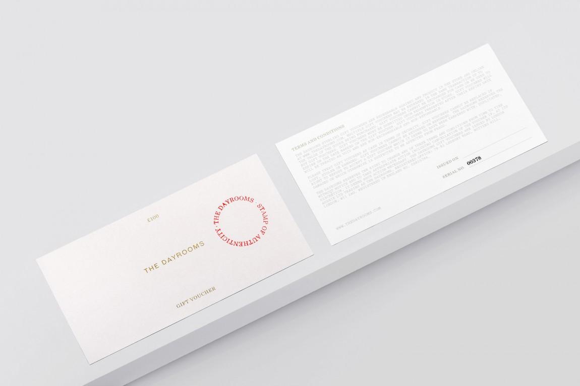 Dayrooms服装VI设计,礼品卡设计