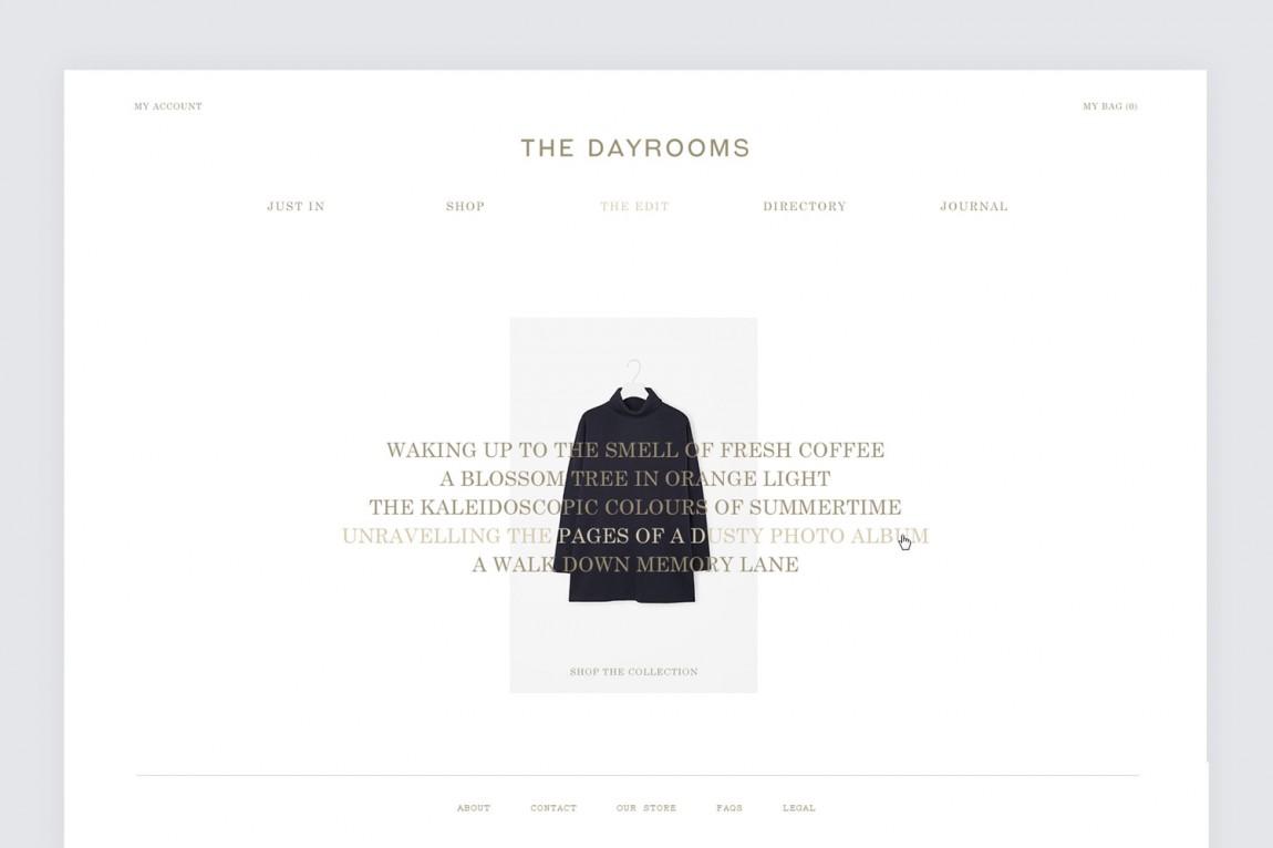 Dayrooms服装VI设计,网站设计