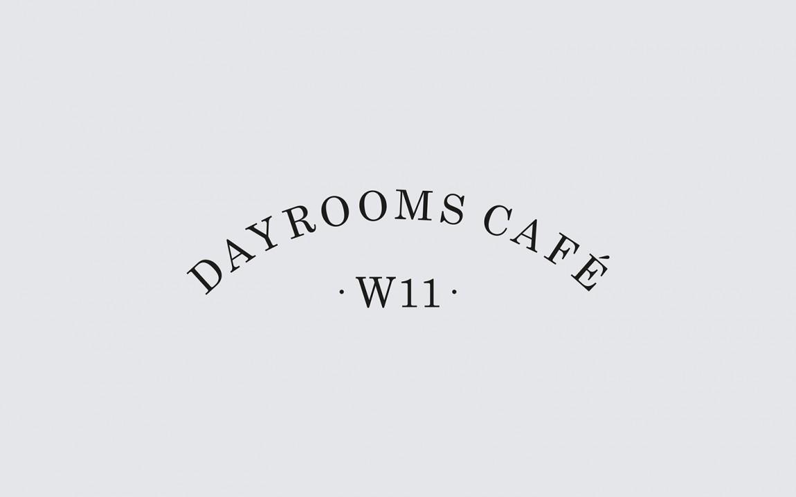 Dayrooms有机咖啡馆VI形象设计,字体设计