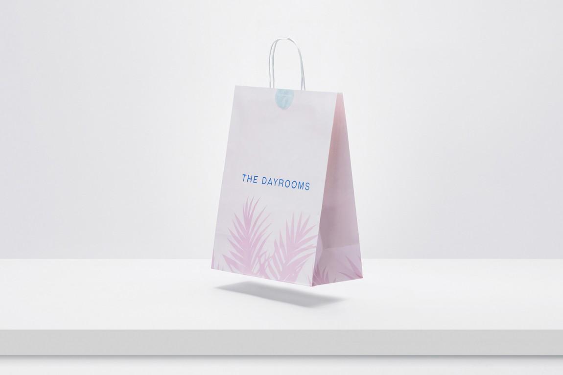 Dayrooms有机咖啡馆VI形象设计,手提袋设计