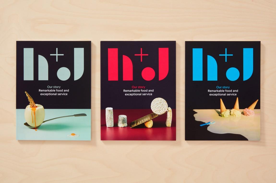 英国H+J餐饮企业餐厅品牌形象设计,VI设计,趣味与简约